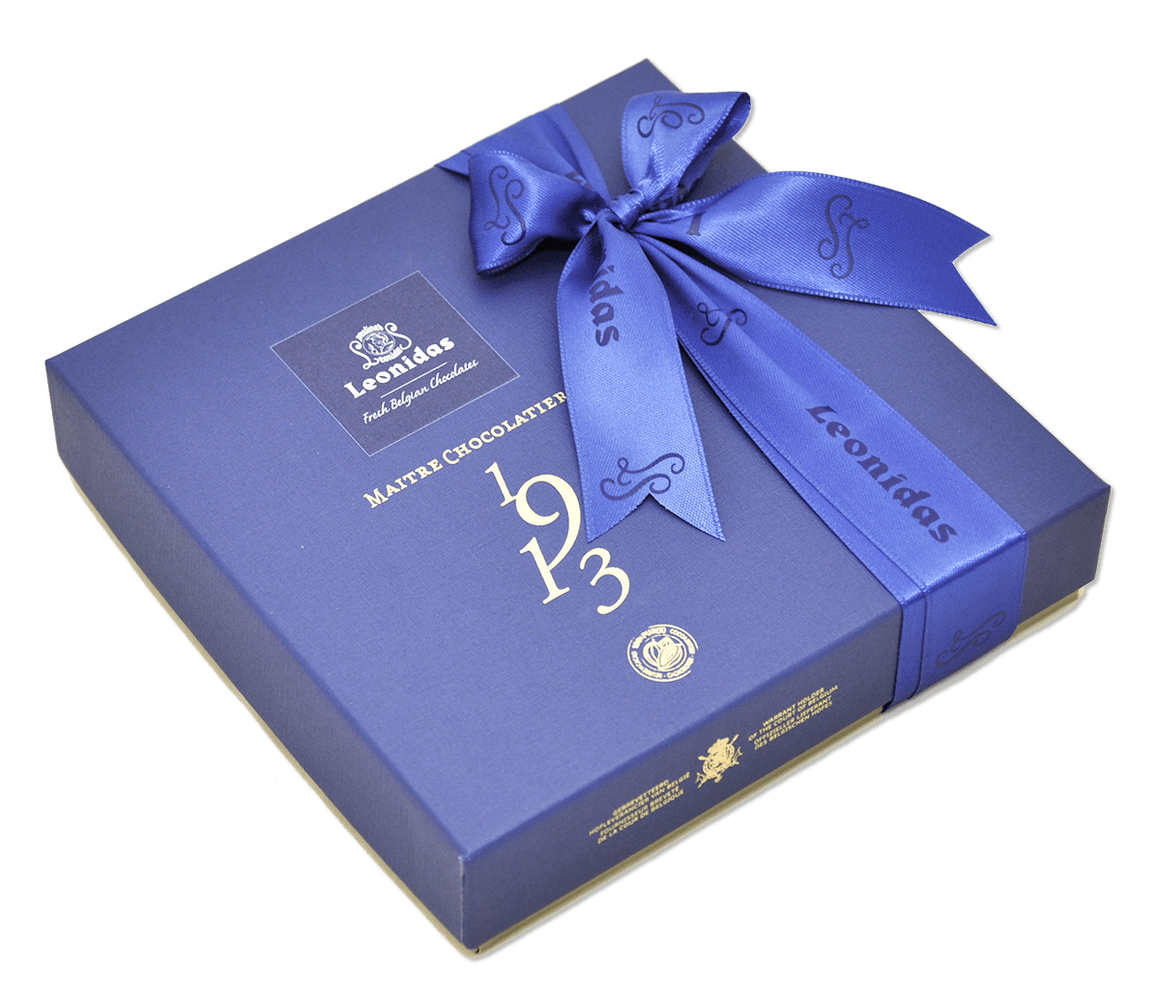 Medium Blue Heritage Gift Box - Assorted Chocolates