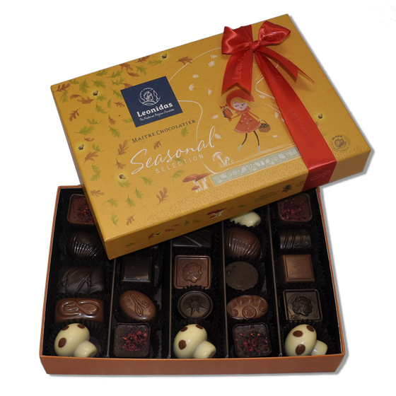 Leonidas Belgian Chocolates seasonal gift box assortment for Autumn