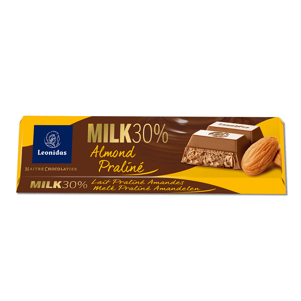 Batons Milk Chocolate (30%) with Almond Praline (6 x 50g)