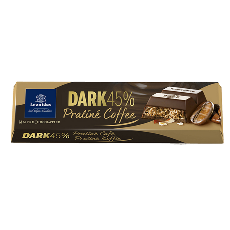 Batons Dark Chocolate (45%) Praline Coffee Pack (6 x 50g)