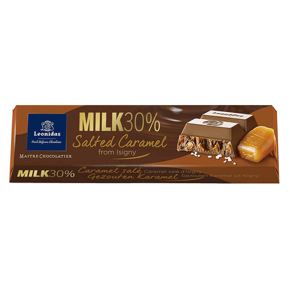 Batons Milk Chocolate (30%) Salted Caramel Pack (6 x 50g)