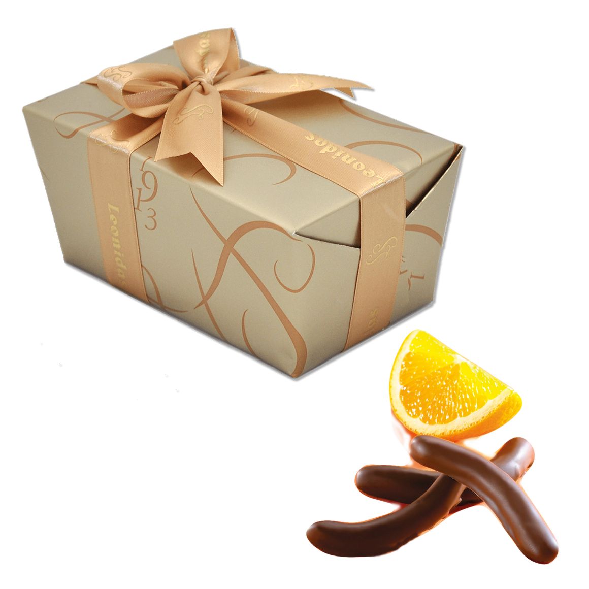 Leonidas Belgian Chocolates - Dark Chocolate covered Orange Peel - Gluten Free