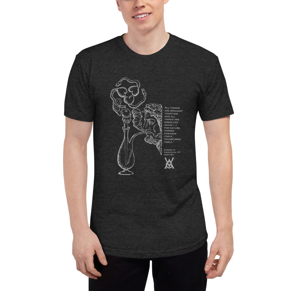 Pipe Design T-Shirt, Gray Ink