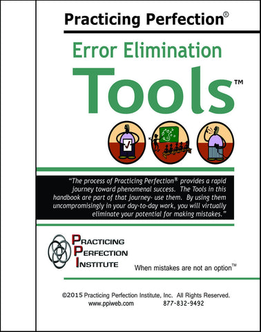 FREE Error Elimination Tools Handbook ($4.95 Shipping & Handling)