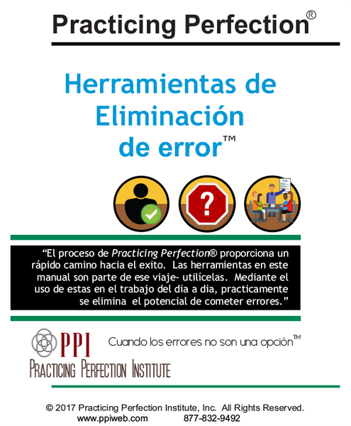 Spanish Error Elimination Tools™ Handbook