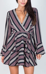 YASMIN STRIPE DRESS