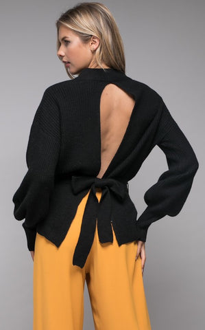 LEAH OPEN BACK SWEATER