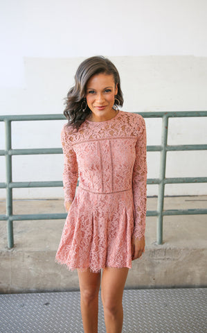 JASMINE LACE PLAYSUIT - BLUSH