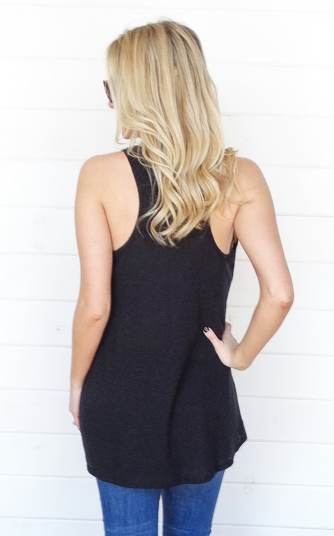 BASIC RACERBACK TANK - BLACK