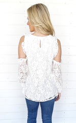 LACE COLD SHOULDER