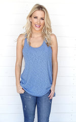 BASIC RACERBACK TANK - BLUE
