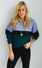 RHODE COLOR BLOCK SWEATERSHIRT