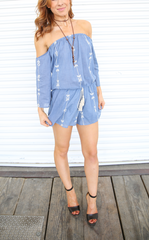 DENIM CARTER ROMPER