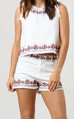 ELLY EMBROIDERED TOP