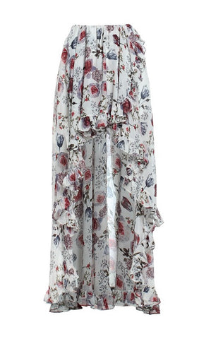 SINATRIA FLORAL SKIRT - IVORY