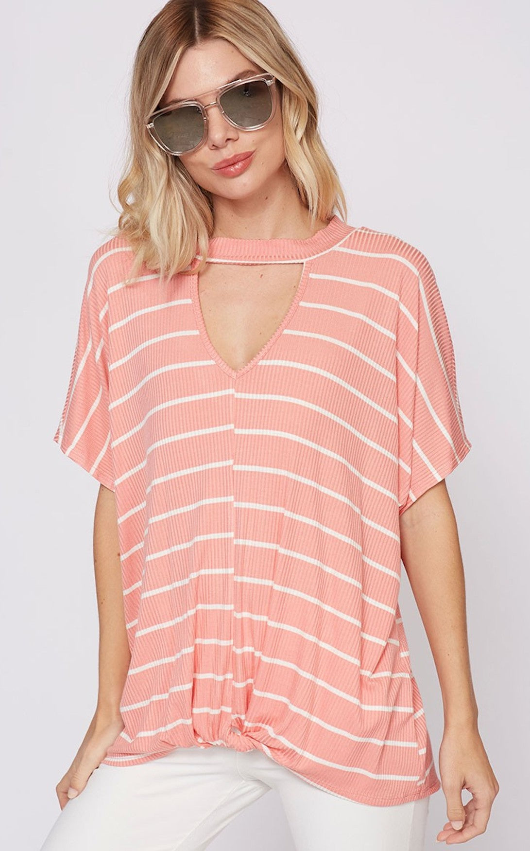 CLAUDIA STRIPE TOP