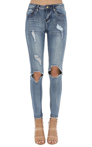 SIMPSON DISTRESSED JEANS