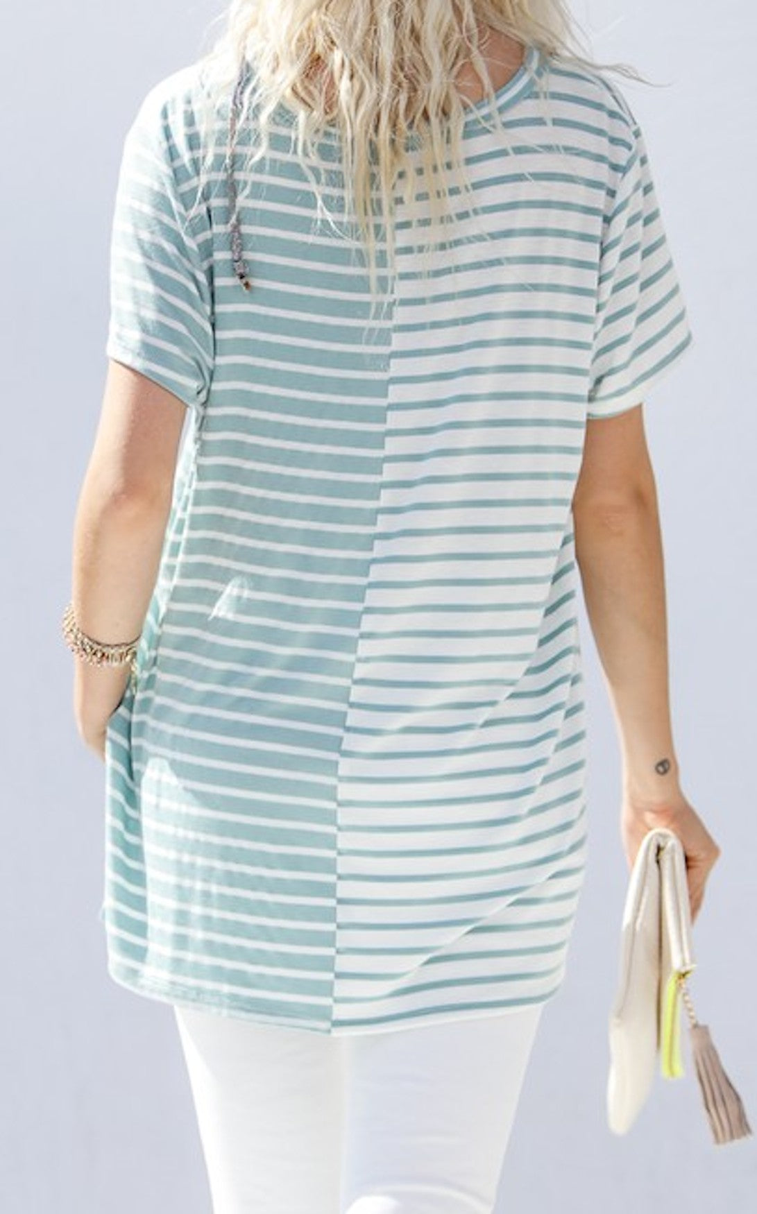 ELIAS STRIPE TOP - MINT