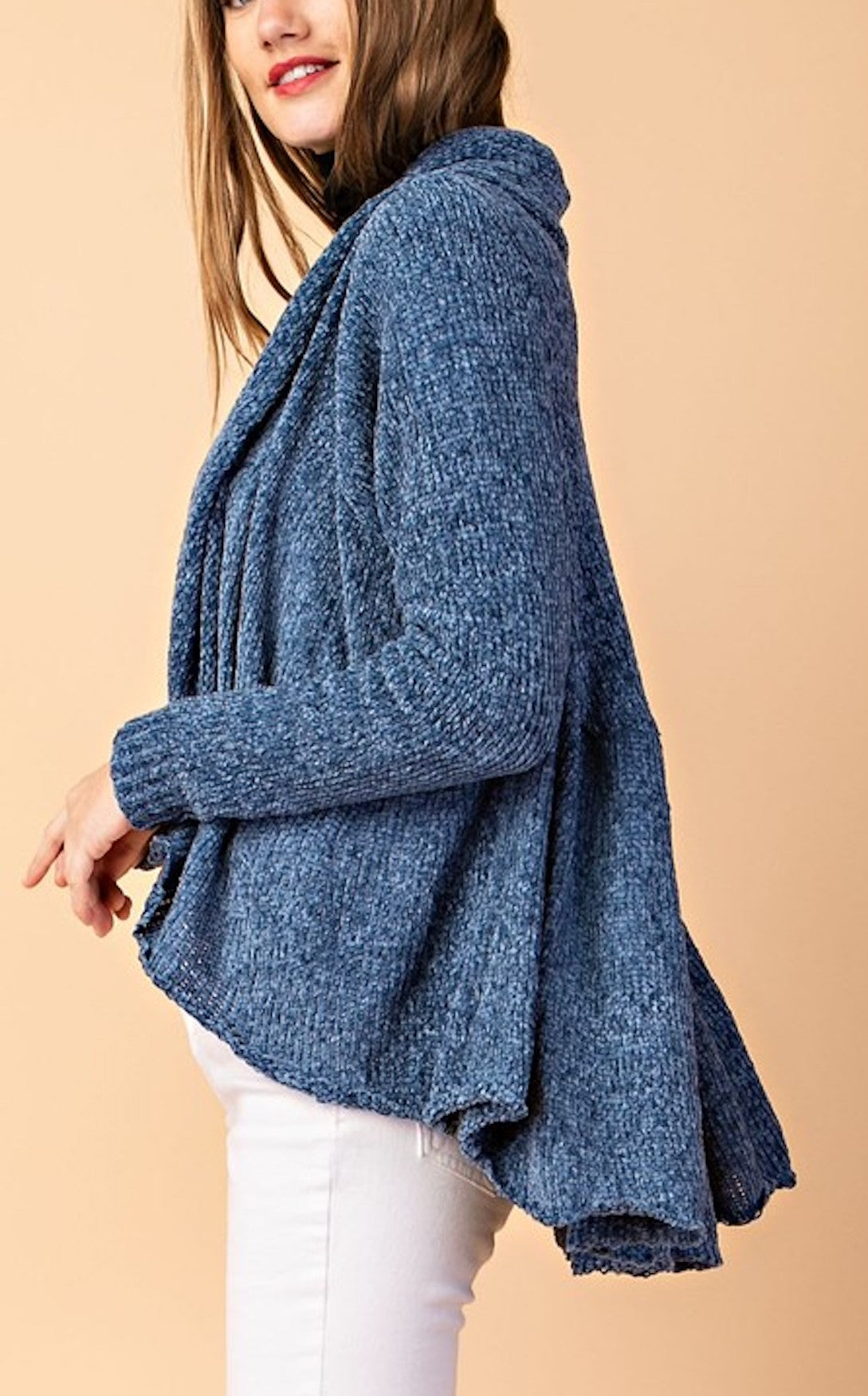 RANESSA SWING CARDIGAN - DENIM