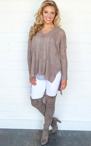 TINA SWEATER - DUSTY ROSE