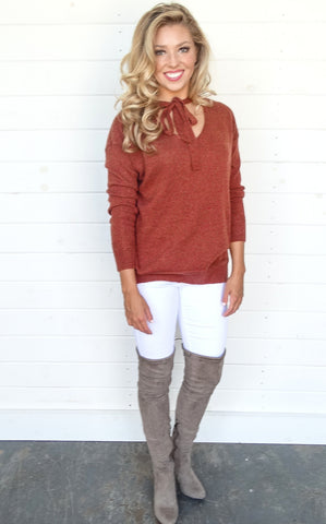 ANGORA SWEATER - RUST