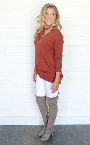 ANGORA SWEATER - RUST 4ed416bef