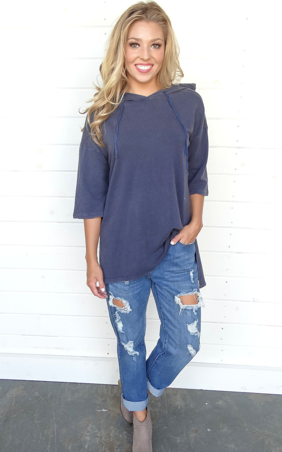 OVERSIZED SWEATSHIRT - DENIM