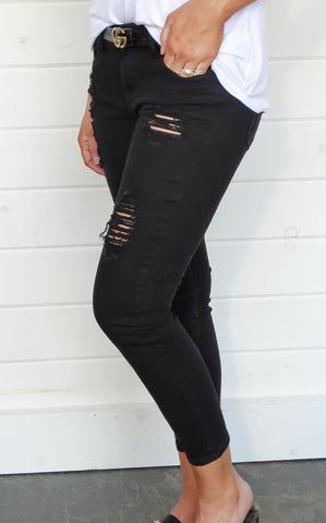 CLYDE DISTRESSED SKINNIES