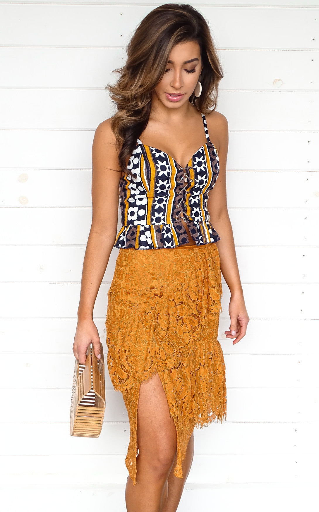 MARIGOLD LACE SKIRT