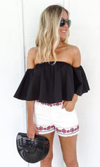 CARA SWING TOP - BLACK