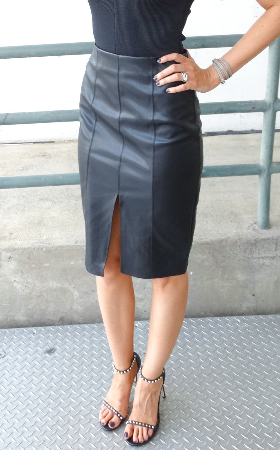 ANDI LEATHER SKIRT