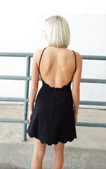 SCALLOP COCKTAIL DRESS