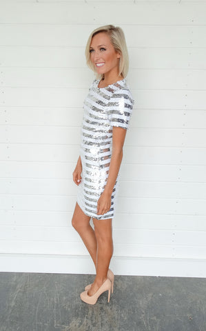 SILVER SEQUIN MINI