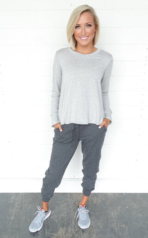 LAZY DAY JOGGERS - CHARCOAL