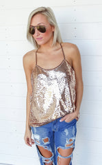 MARQUEE SEQUIN TOP