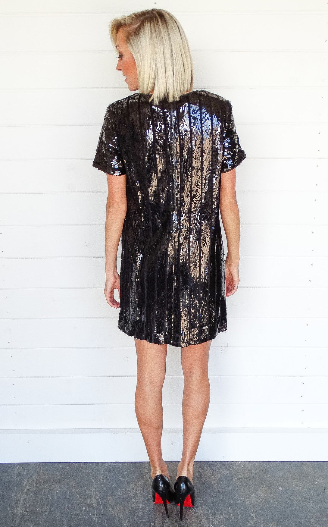 BLACK SEQUIN MINI