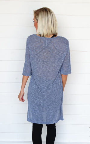 FADED KNIT TUNIC