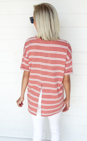 STRIPED BRICK TEE