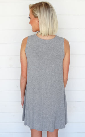 CIANA POCKET DRESS - GREY
