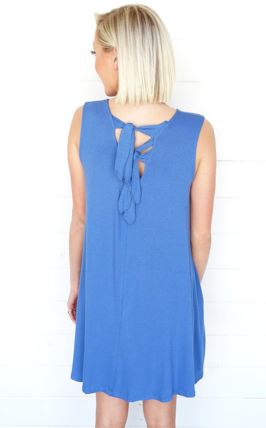 TIE BACK POCKET DRESS