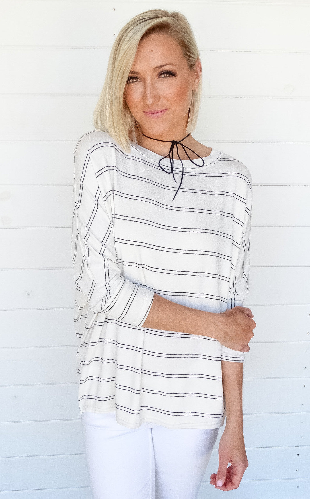 DOLMAN STRIPE TOP