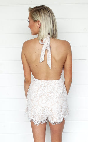 MADISON LACE ROMPER - IVORY