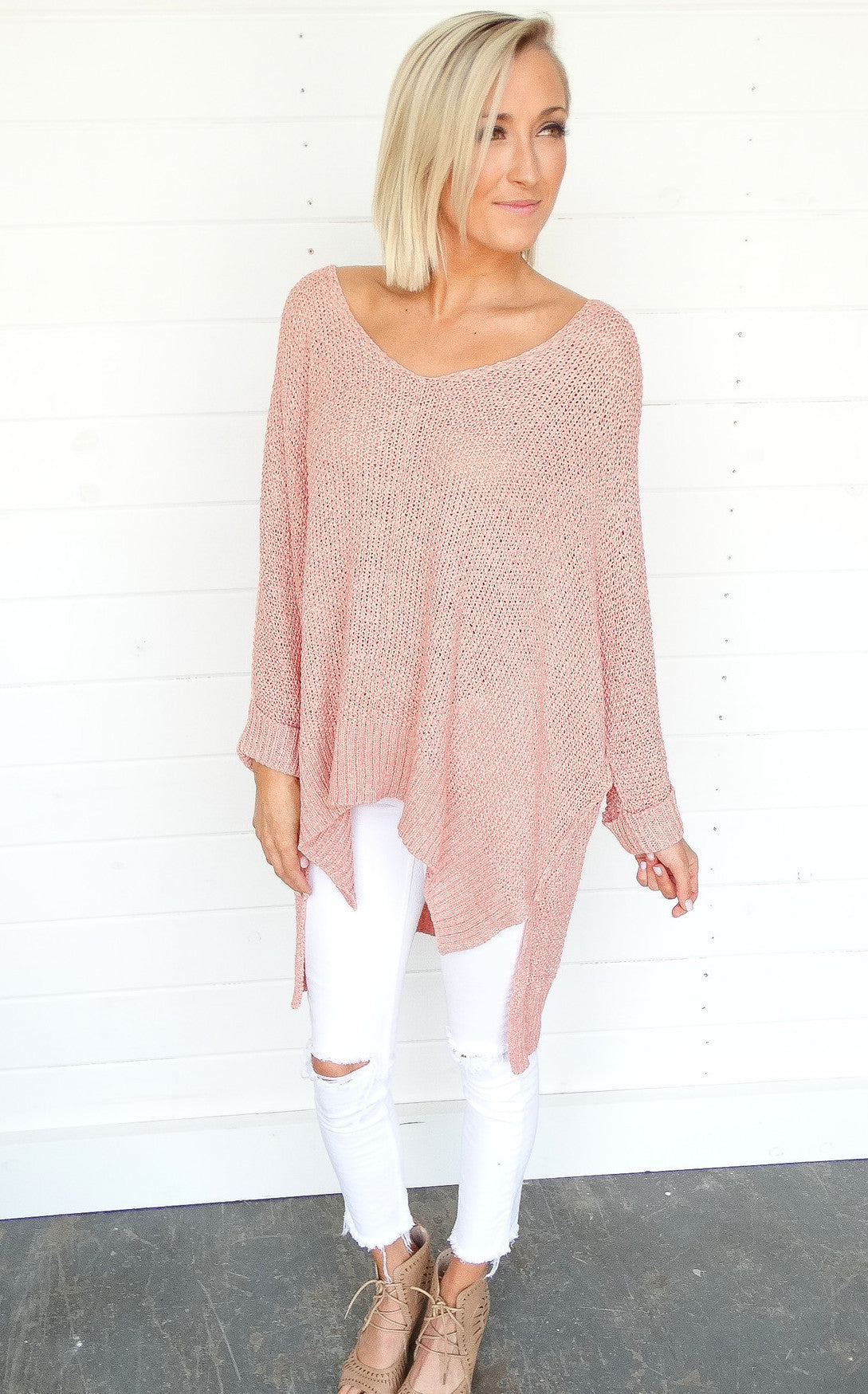 AVERY SWEATER - PEACH