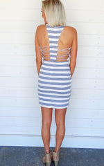 STRIPED TORI DRESS