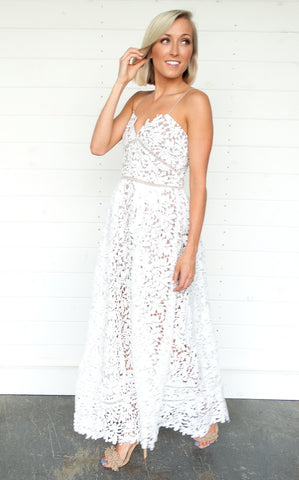 LUXURY LACE MAXI - IVORY