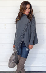 FLEECE CARDIGAN - GREY