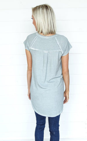 FRENCH GREEN WASHED TUNIC