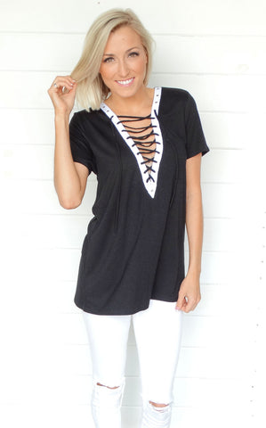 MIA LACE UP TOP