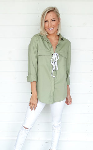 LACE UP OLIVE