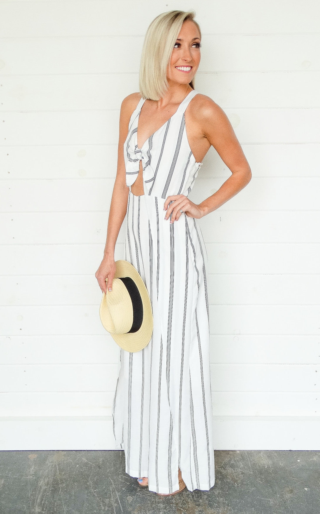 SAVANNAH STRIPED JUMPSUIT